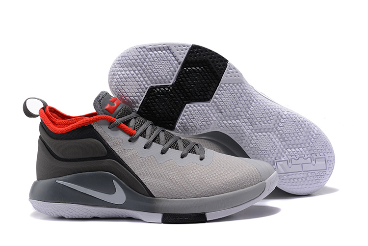 Nike Lebron Witness II Grey Black Red Shoes